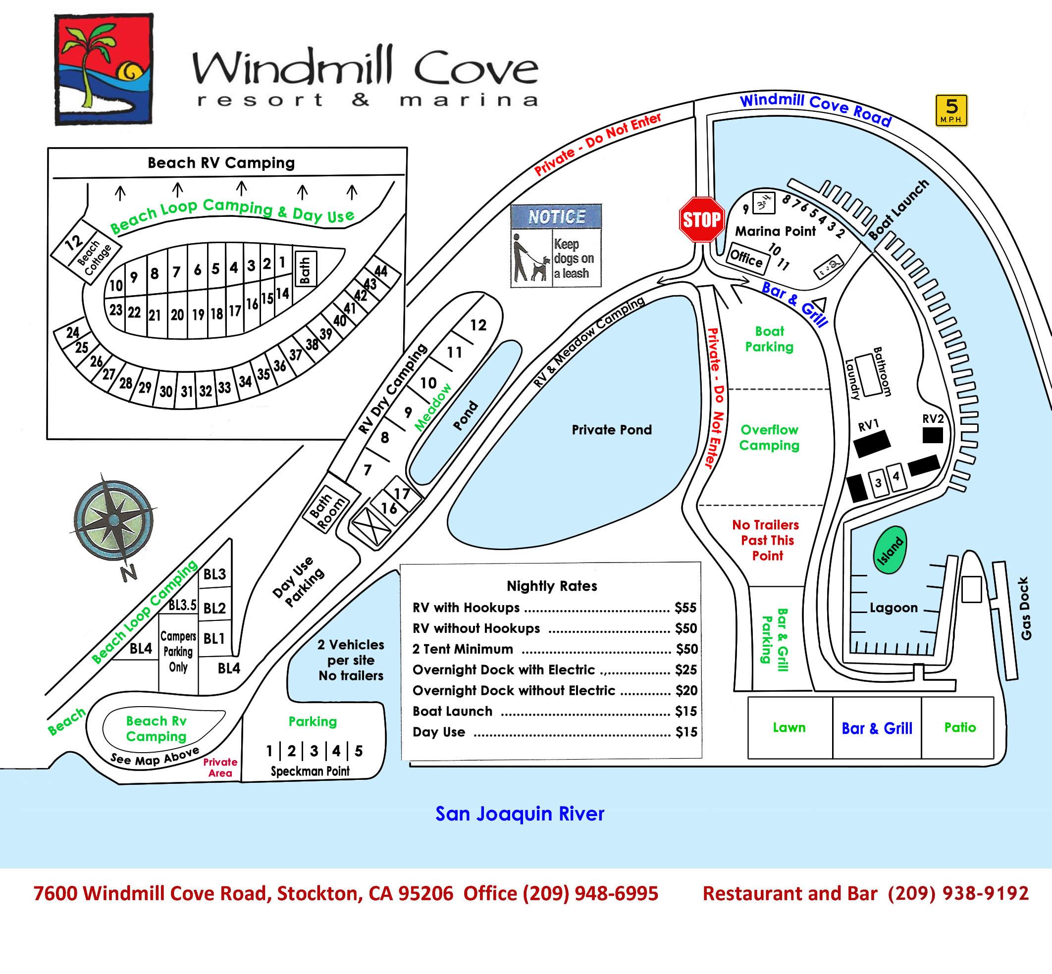 Windmill Cove Resort Map